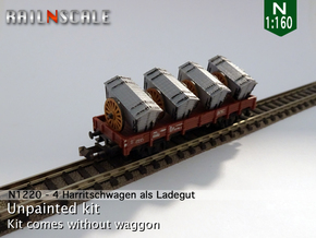 4 Harritschwagen als Ladegut (N 1:160) in Smooth Fine Detail Plastic