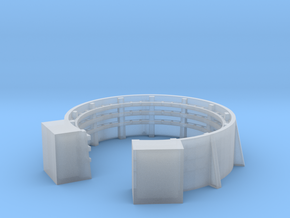 1/192 40mm Gun Tub Shield with Shell Bracket in Smooth Fine Detail Plastic