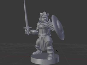 Gnome /Fighter/Cleric/Paladin in White Natural Versatile Plastic