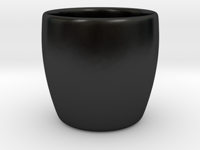 Cup + Your name  in Matte Black Porcelain: Extra Small