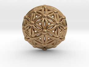 Flower Of Life Dome in Polished Brass
