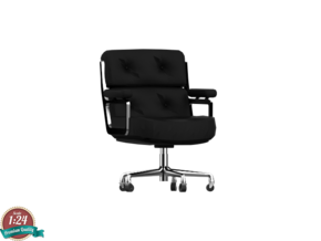 Miniature Eames Executive Chair - Charles and Ray  in White Natural Versatile Plastic: 1:24