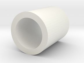 Tube squeeze / fixing cylinder matching tube 10/12 in White Natural Versatile Plastic