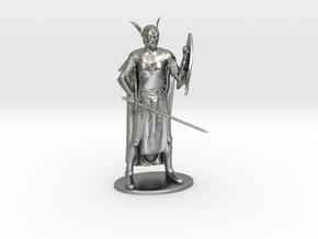 High Elf Miniature in Natural Silver: 1:60.96