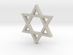Hexagram in Natural Sandstone