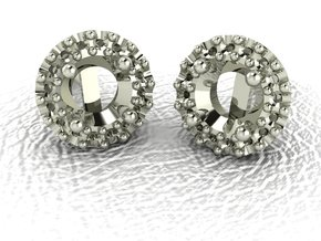 Halo earrings NO STONES SUPPLIED in 14k White Gold