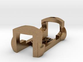 plastic clip for garmin foot pod SDM4 in Natural Brass