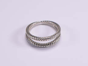 DRAGON Solid Duo, Ring Us Size 10, d=19,8mm in Polished Silver: 10 / 61.5