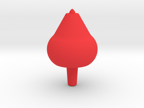 Fun Spinning Top Toy in Red Processed Versatile Plastic