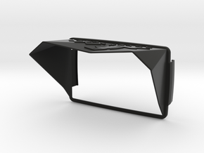 Sunshade (Clip-On) for BMW Navigator 6, XR-Logo in Black Natural Versatile Plastic
