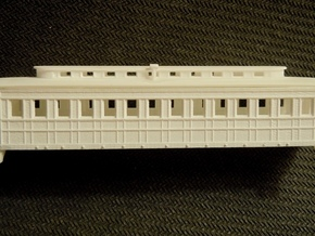 R08i N monitor roof coach, Pensy 1861, w/ int. in Frosted Ultra Detail