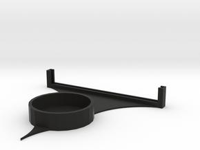 Lithophane Tealight Stand 2 in Black Natural Versatile Plastic