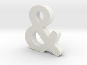 Ampersand in White Natural Versatile Plastic