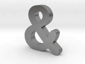 Ampersand in Natural Silver