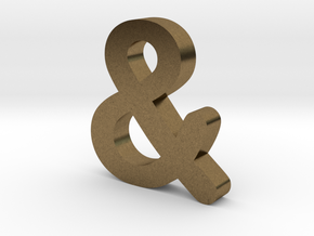 Ampersand in Natural Bronze