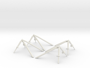 Landing Gear Outriggers in White Natural Versatile Plastic