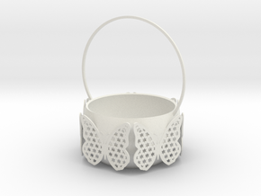 Butterfly Basket Colored in White Natural Versatile Plastic