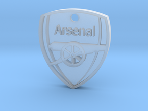 Arsenal FC Shield KeyChain in Smooth Fine Detail Plastic