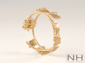 Fall Ring  in Polished Bronze: 6 / 51.5