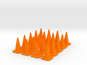 20x PACK 1:50 Construction cones / Kegel. in Orange Processed Versatile Plastic