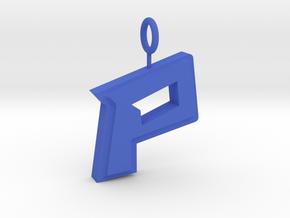Paintsville P Pendant in Blue Strong & Flexible Polished