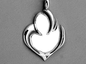 Tru3 Lov3 © in Polished Silver