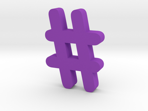 Hash  in Purple Processed Versatile Plastic