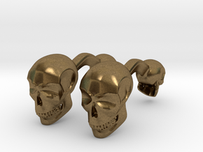 Volumatik Cufflinks Skull in Natural Bronze