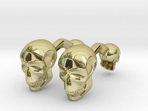 Volumatik Cufflinks Skull in 18k Gold Plated Brass