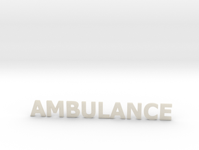 Ambulance letters zonder steun 86 mm in White Acrylic