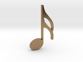Music Pendant - Semiquaver (16th Note) in Natural Brass