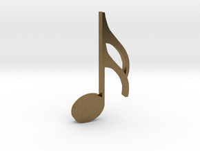 Music Pendant - Semiquaver (16th Note) in Raw Bronze