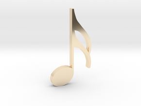 Music Pendant - Semiquaver (16th Note) in 14k Gold Plated Brass