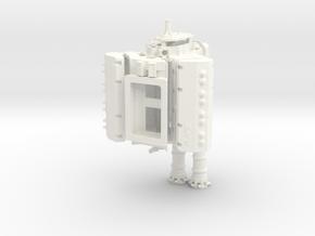 AJPE 1/12 Hemi Dual Blower Manifold  in White Processed Versatile Plastic