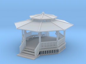 24 Ft Gazebo With Benches Z Scale in Frosted Ultra Detail