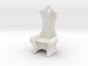 Ornate Eldar Chair  (Elvish Style Chair)) in White Strong & Flexible