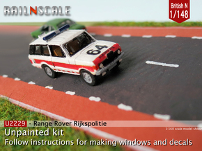 Range Rover Rijkspolitie (British N 1:148) in Smooth Fine Detail Plastic