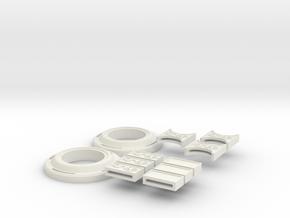 Doctor Strange Belt Pieces in White Natural Versatile Plastic