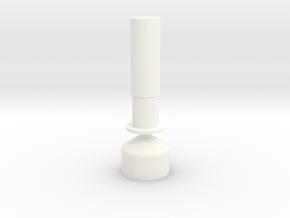 Seaking Tail Boom Transponder in White Processed Versatile Plastic