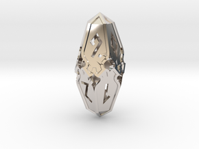 Amonkhet D10 Spindown Life Counter - Small, in Rhodium Plated Brass