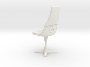 TOS Burke 115 Bridge Chair V2 in White Natural Versatile Plastic: 1:12