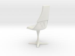 TOS Burke 115 Bridge Chair V2 in White Strong & Flexible: 1:12