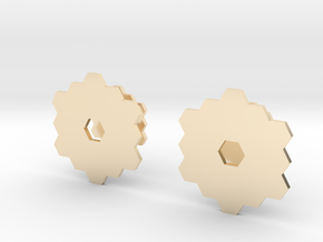 James Webb Space Telescope Cuff Links in 14K Yellow Gold