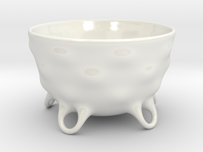 Matcha Chawan jap. 茶碗 Teacup for Jap. Tea Ceremony in Gloss White Porcelain