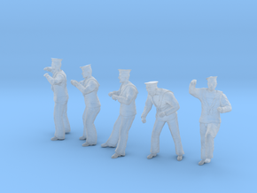 1-20 Royal Navy Sailors Set1-4 in Smooth Fine Detail Plastic