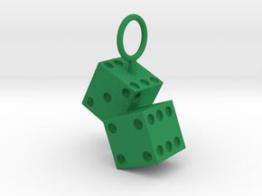 Lucky 7 Pendant in Green Processed Versatile Plastic