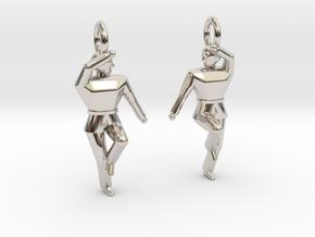 Earings - Keumgang in Rhodium Plated Brass