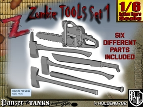 1-6 Zombie Tools Set1 in White Processed Versatile Plastic