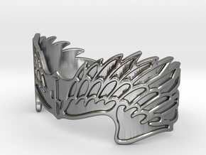 """On Eagles Wings"" by Constanz in Polished Silver: Small"