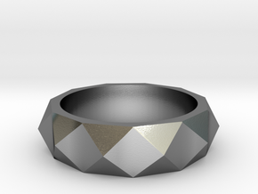studded ring in Polished Silver